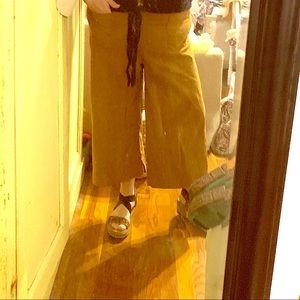 Anthropologie Cropped Trousers color Tobacco